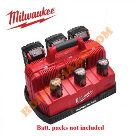 Sạc nhanh pin Milwaukee 12V, 18V M12/M18 M12-18C3 (3 cổng)