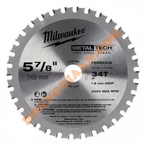 Lưỡi cắt kim loại 149mm 34T Milwaukee 48-40-4080