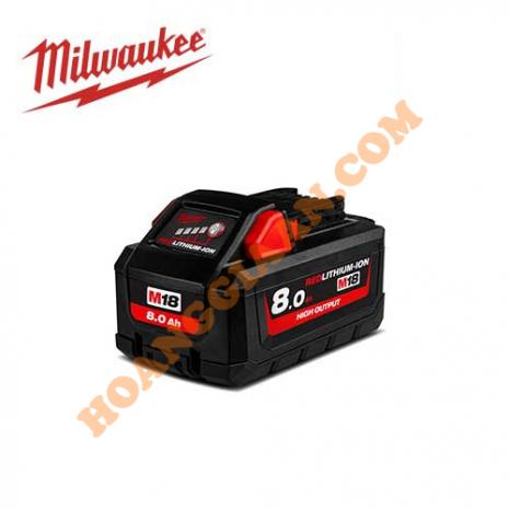 Pin M18™ HIGH OUTPUT™ Milwaukee 18V 8.0Ah M18 HB8