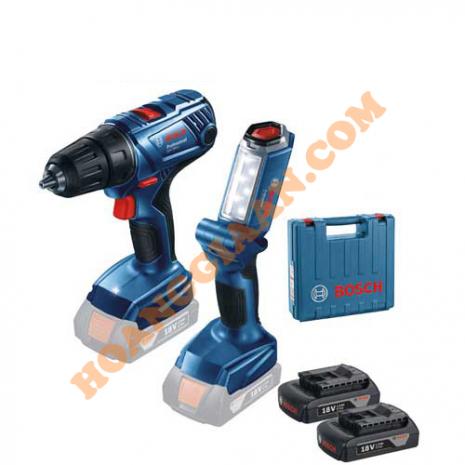 Máy khoan vặn vít dùng pin Bosch GSR 180-LI+ Đèn pin GLI 180LI