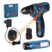 Máy khoan vặn vít dùng pin Bosch GSR 120 LI + GLI 120