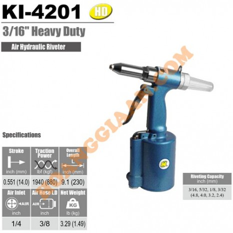 Máy rút rive bằng hơi 4.8mm Kuani KI-4201
