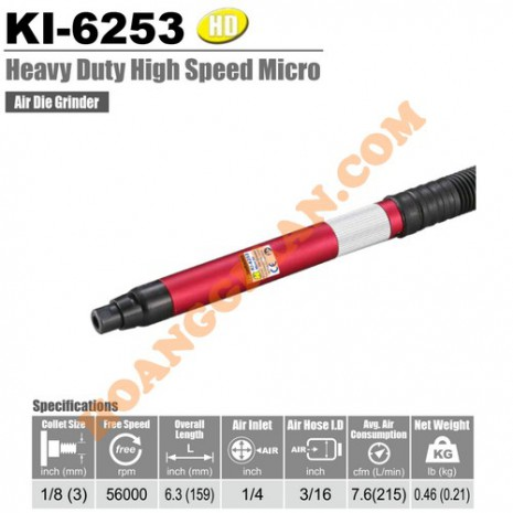 Máy mài hơi dạng bút 3mm Kuani KI-6253