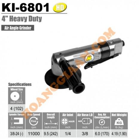 """Máy mài góc hơi 100mm 4"""" Kuani KI-6801"""