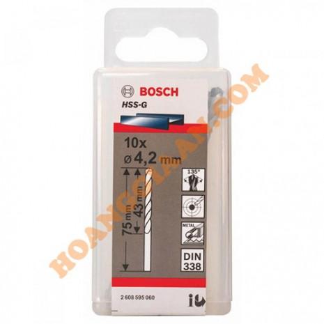 Mũi khoan sắt 4.2mm HSS-G 10 mũi Bosch 2 608 595 060