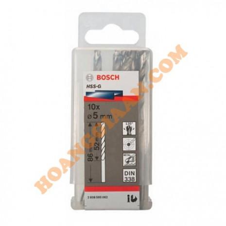 Mũi khoan sắt 5mm HSS-G 10 mũi Bosch 2 608 595 062