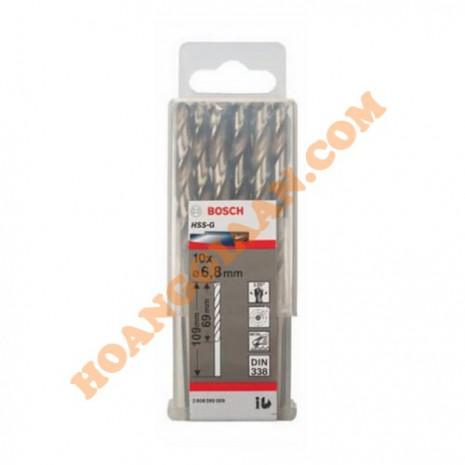 Mũi khoan sắt 6.8mm HSS-G 10 mũi Bosch 2 608 595 069