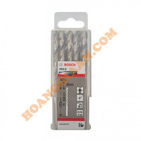 Mũi khoan sắt 7mm HSS-G 10 mũi Bosch 2 608 595 070