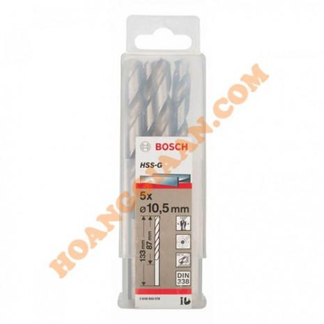 Mũi khoan sắt 10.5mm HSS-G Bosch 2 608 595 078