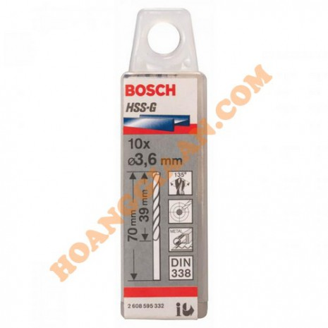 Mũi khoan sắt 3.6mm HSS-G Bosch 2 608 595 332