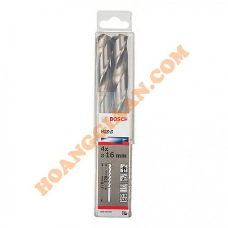 Mũi khoan sắt 15mm HSS-G bộ 4 mũi Bosch 2 608 585 594