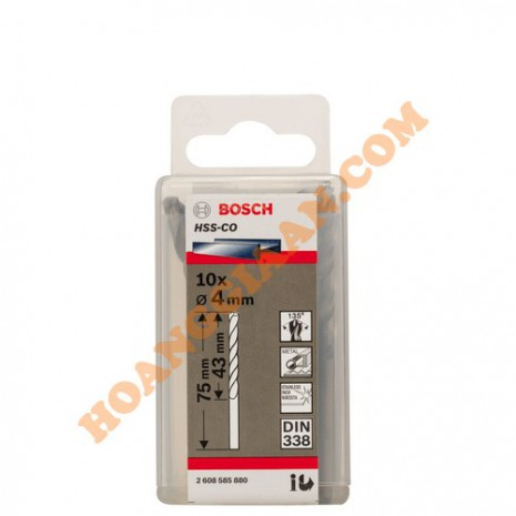 Mũi khoan inox HSS-CO 4mm 10pcs Bosch 2 608 585 880