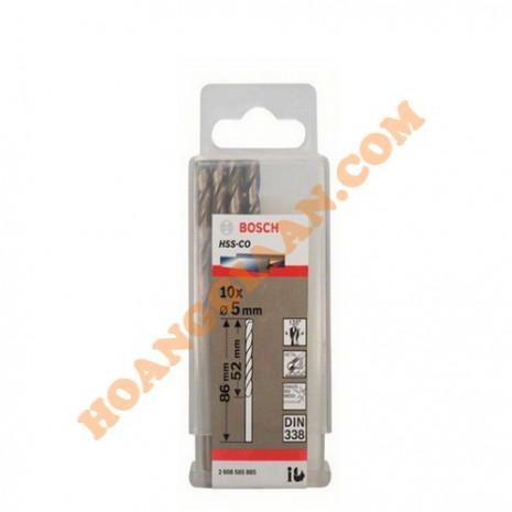 Mũi khoan inox HSS-CO 5mm 10pcs Bosch 2 608 585 885