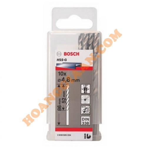 Mũi khoan sắt 4.8mm HSS-G Bosch 2 608 595 334